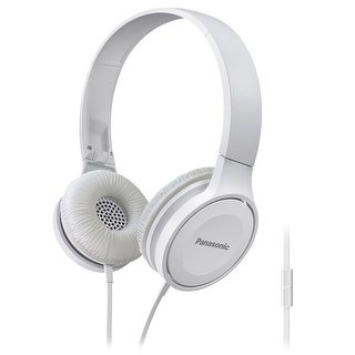 Panasonic On-Ear Stereo Headphones with Mic and Controller (White)