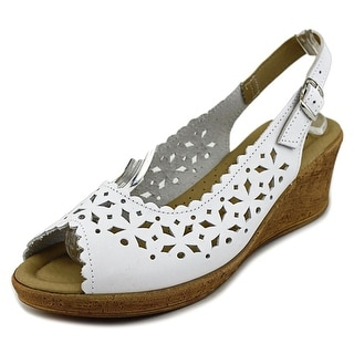 Spring Step Betsey Women Open Toe Leather Wedge Sandal