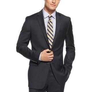 Bar III Slim Fit Black Tonal Plaid 2-Button Sportcoat Blazer 42 Regular 42R