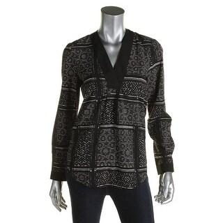 Vero Moda Womens Pullover Top Chiffon Pattern