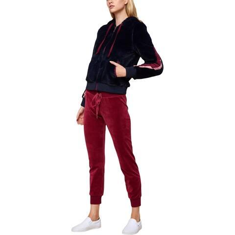 Juicy Couture Black Label Womens Robertson Basic Coat Lightweight Faux Fur