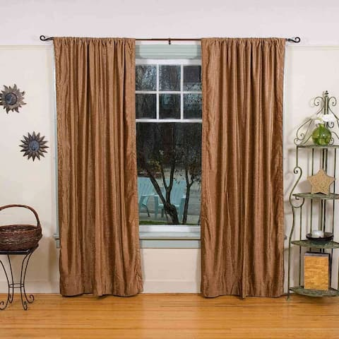 Taupe Rod Pocket Velvet Curtain / Drape / Panel - Piece