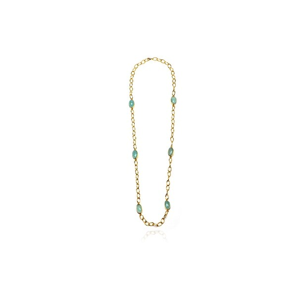 Tidal Necklace in Aqua Chalcedony