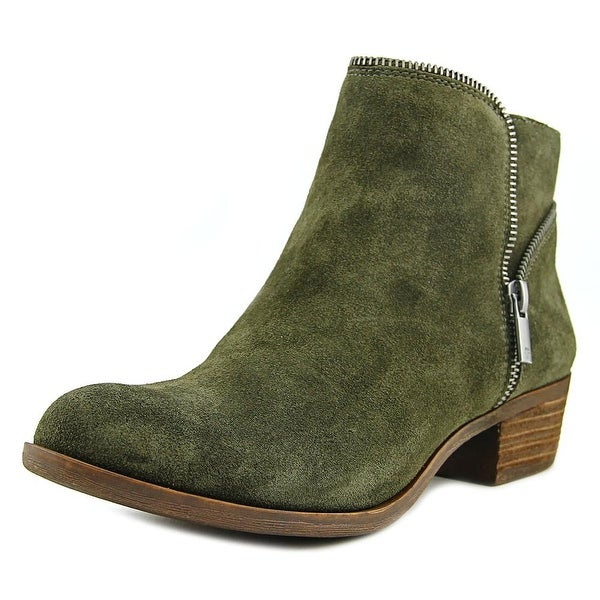 Lucky Brand Boide Women Round Toe Suede Green Ankle Boot