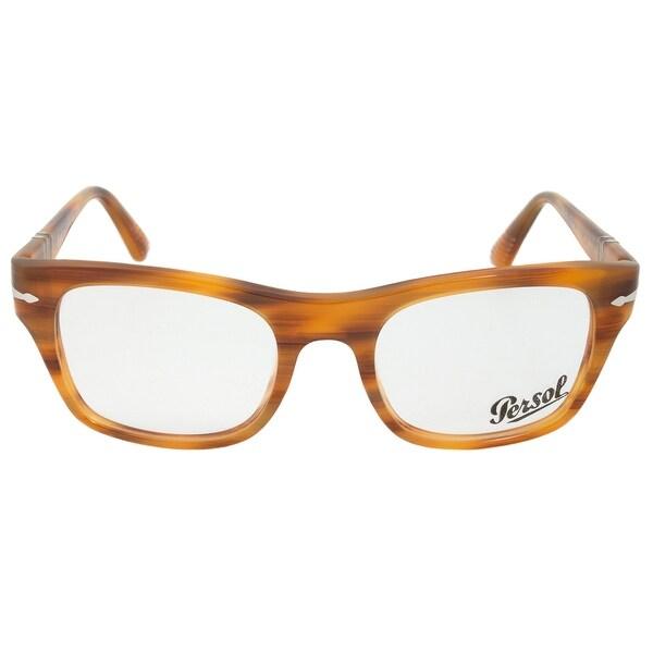 Persol 0PO3070V 960 Rectangular   Striped Brown  Eyeglass Frames
