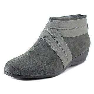 Trotters Latch Women N/S Round Toe Suede Gray Bootie