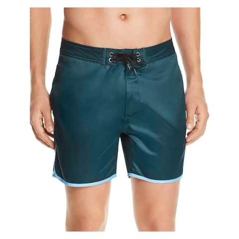 ONIA Mens Green Solid Shorts Size 30