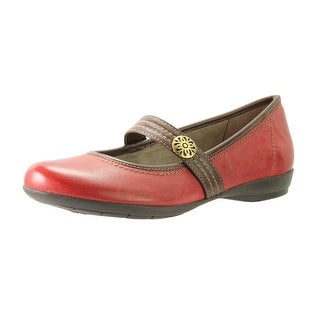 Naturalizer Womens Garrison Leather Two Tone Mary Janes - 7 wide (c,d,w)