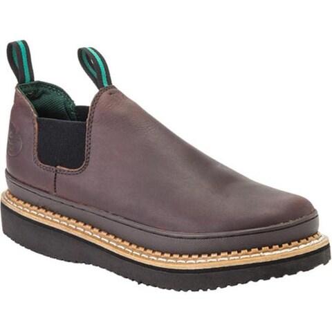 Georgia Boot Men's Georgia Giant Romeo Work Shoe Soggy Brown/Dark Brown Full Grain Leather