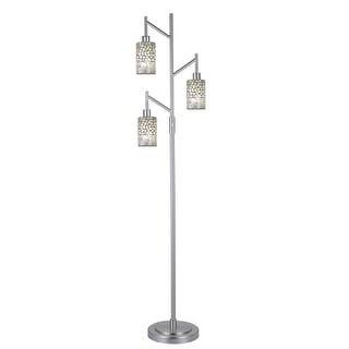 Dale Tiffany PF12359 Alps 3 Light Torchiere Lamp - Satin Nickel