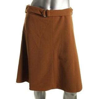Nine West Womens Ponte Knee Length A-Line Skirt