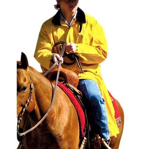 Double S Western Jacket Adult Saddle Slicker Waterproof Yellow