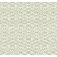 York Wallcoverings EB2042 Candice Olson Vibe Aztec Wallpaper - white/chambray blue/silver