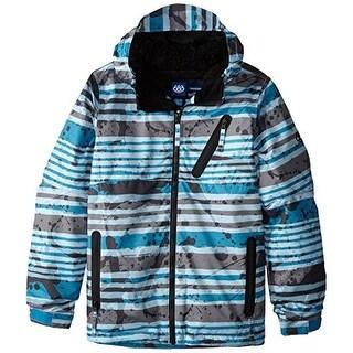 686 Boy's Trail Insulated Jacket - Blue Stripe