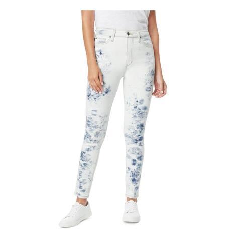 JOE'S Womens Light Blue Patterned Skinny Jeans Size 24 Waist