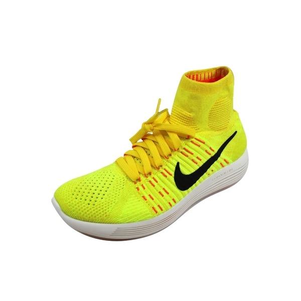 17d223455b34bb ... Men s Athletic Shoes. Nike Men  x27 s Lunarepic Flyknit Yellow  Strike Black-Volt-Hyper