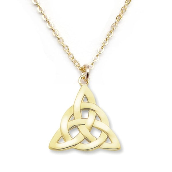 "Julieta Jewelry Celtic Knot Gold Charm 16"" Necklace"