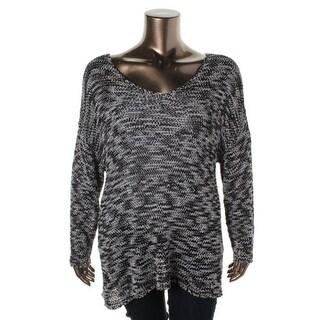 Eileen Fisher Womens Space Dot Knit Tunic Sweater