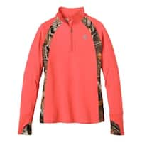Legendary Whitetails Ladies Intensity Big Game Camo Performance 1/4 Zip