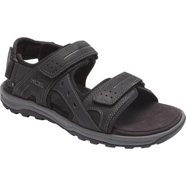 e4f4fe51e5cd Shop Rockport Men s Trail Technique Adjustable Sandal Black Leather ...