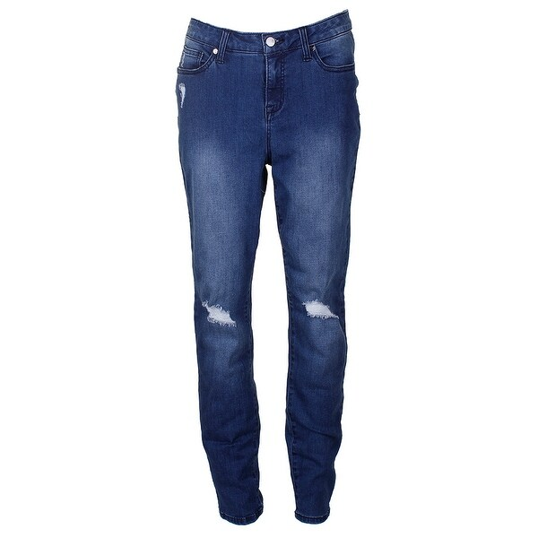 1f5c0c7c1d49a Shop Thalia Sodi Blue Medium Wash Distressed Skinny Jeans - Free ...