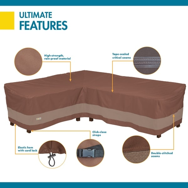 Duck Covers Ultimate Waterproof 104 Inch Patio Sofa Cover