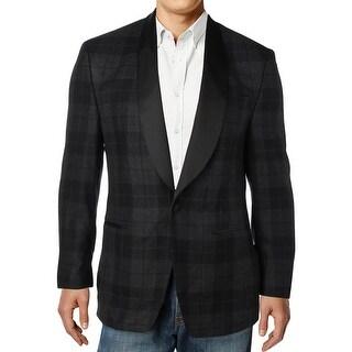 Lauren Ralph Lauren Mens One-Button Blazer Wool Plaid - 38r