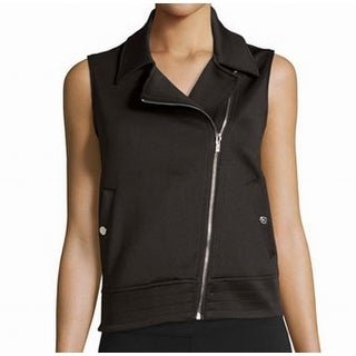 Marc New York NEW Black Womens Medium M Asymmetric Zip Moto Vest Jacket