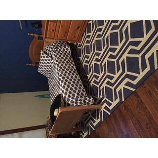 Pass Hand-Tufted Retro Geometric Wool Rug (7'6 x 9'6)