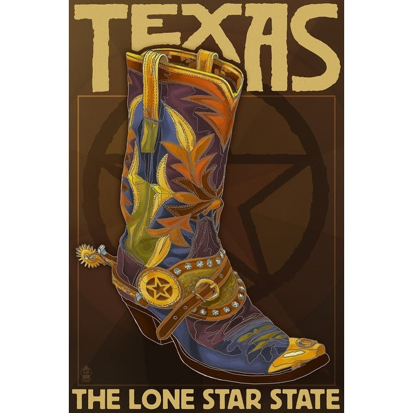 TX - Boot & Star - LP Artwork (Poker Playing Cards Deck)