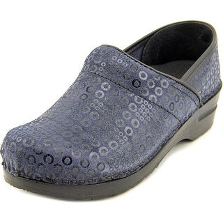 Sanita Original-Split With Art.196 Women Round Toe Synthetic Blue Clogs