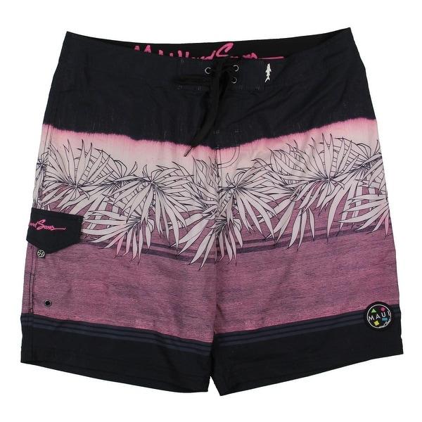 618499a7ba Shop Maui and Sons Mens Palm Tree Printed Swim Trunks - 38 - Ships ...