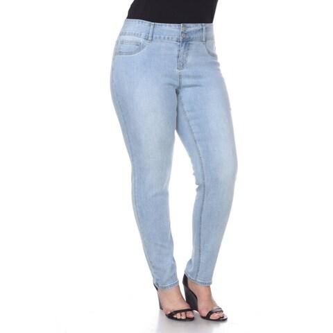 Plus Size Super Stretch Denim Jeans - Light Blue