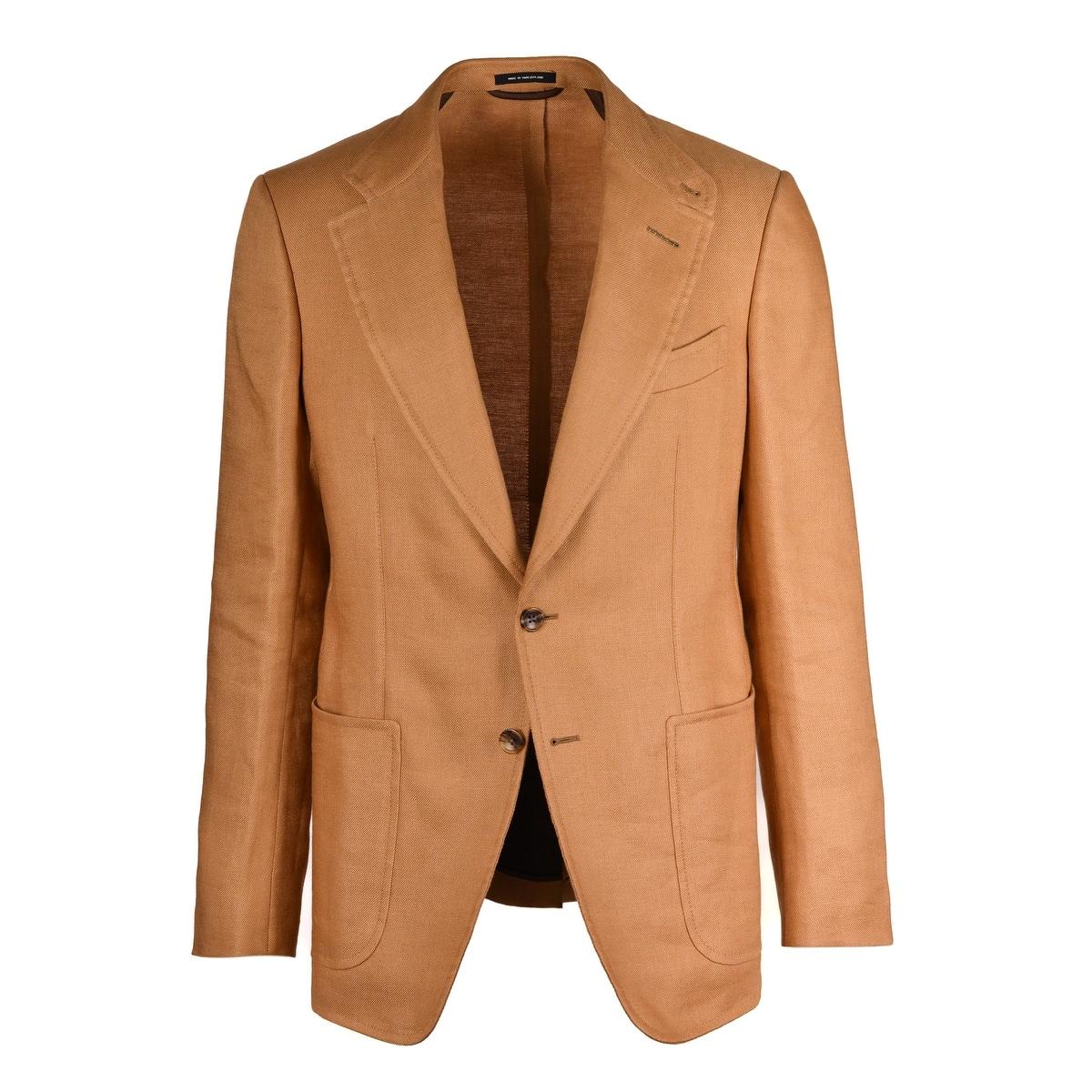shop for original laest technology shop for authentic Tom Ford Mens Camel Brown Shelton Notch Lapel Jacket Blazer - 38