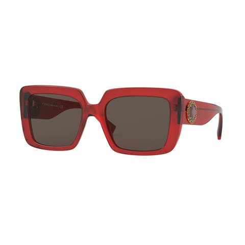 Versase VE4384BF 528073 54 Transparent Red Woman Square Sunglasses