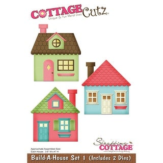 "CottageCutz Die-Build-A-House Set 1, 3.6""X4"""