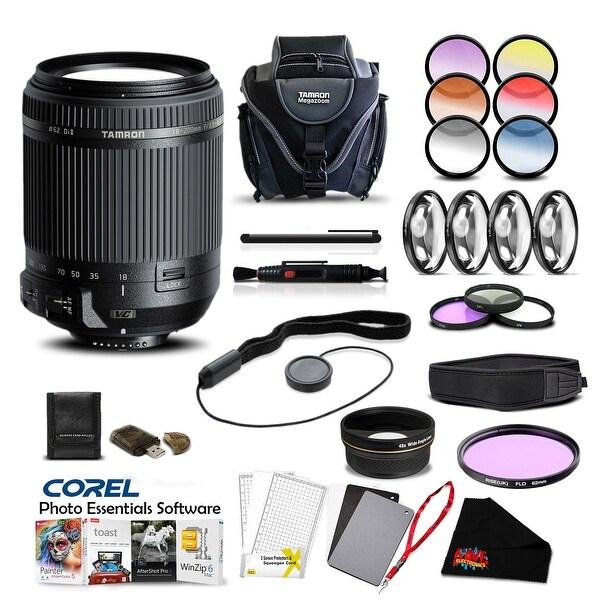 Tamron 18-200 f/3.5-6.3 Di II VC for Nikon Pro Accessory Kit - Black