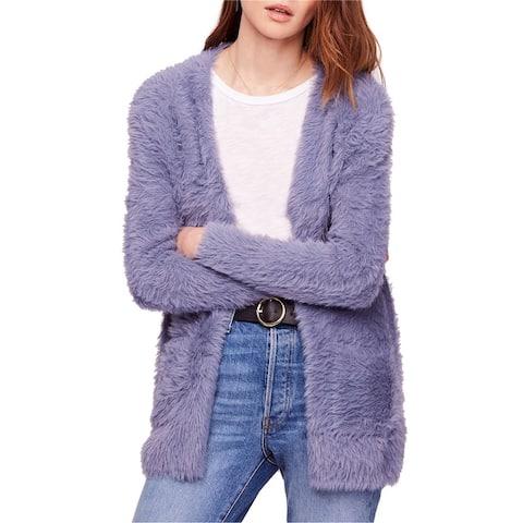 Free People Womens Faux Fur Cardigan Sweater
