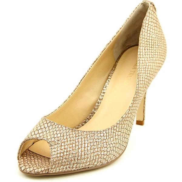 a07babeb83dc Shop Ivanka Trump Cleo 5 Women Peep-Toe Leather Brown Heels - Free ...