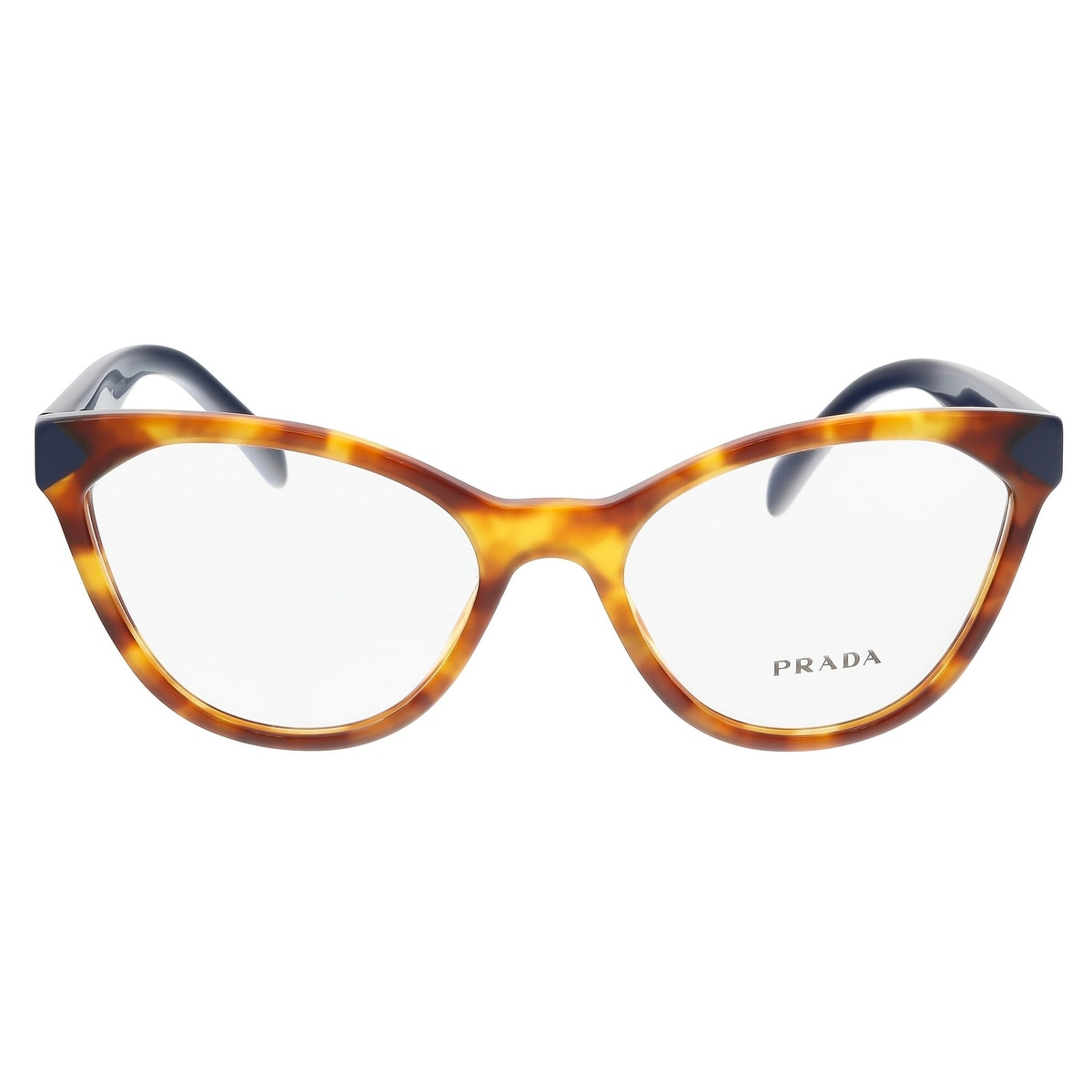 Shop Prada PR 02TV 4BW1O1 Medium Havana Cateye Optical Frames - 52