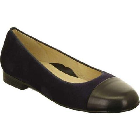 ara Women's Sally 41305 Cap Toe Shoe Plum Oily Kid/Black Nappa