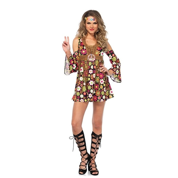 d03d9ae1d09 Shop Starflower Hippie Women s Costume - Free Shipping On Orders Over  45 -  Overstock.com - 17886782