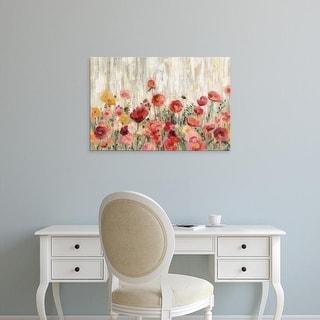 Easy Art Prints Silvia Vassileva's 'Sprinkled Flowers' Premium Canvas Art