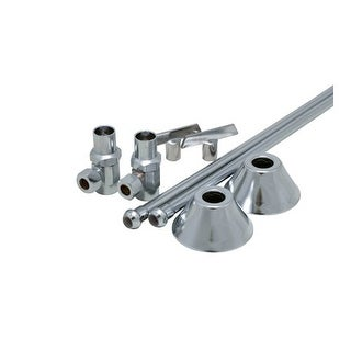 """ProFlo PFXCAS32CLKL12 1/2"""" x 3/8"""" Straight Supply Stop Kit with Risers, Flanges"""