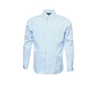 Ralph Lauren Striped Button Down Shirt Blue & White Cotton Medium