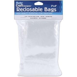 "Reclosable Bags 100/Pkg-3""X4"" Clear"