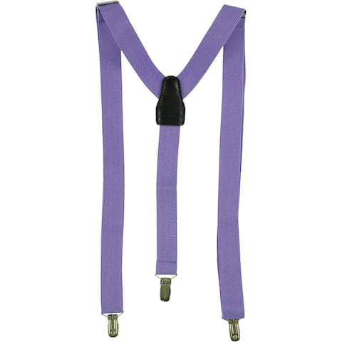 Alfani Mens Basic Medium Suspenders, purple, One Size - One Size