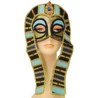 Cleopatra Costume Mask Adult One Size - Gold