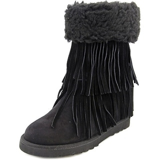 Madden Girl Sleet Women Round Toe Synthetic Black Winter Boot