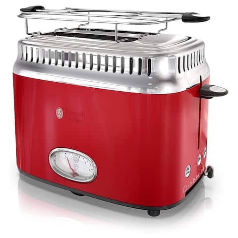 Russell Hobbs Old School 2 Slice Toaster in Red